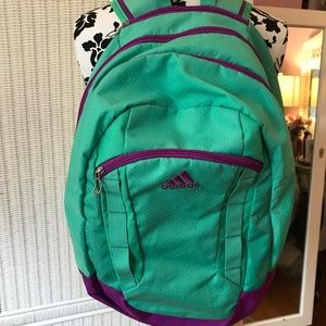 TURQUOISE & PURPLE ADIDAS LOAD SPRING BACKPACK